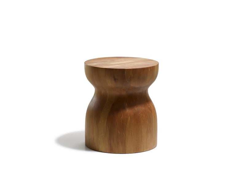 Oiled Organic Modern Sculptural Side Table in Sustainable Ancient Swamp Kauri Wood For Sale
