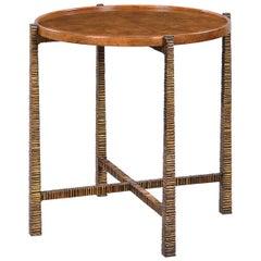 Organic Modern Side Table, Bronzed Finish