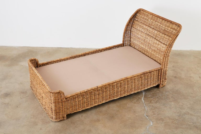 Organic Modern Style Wicker Daybed or Chaise Lounge 4