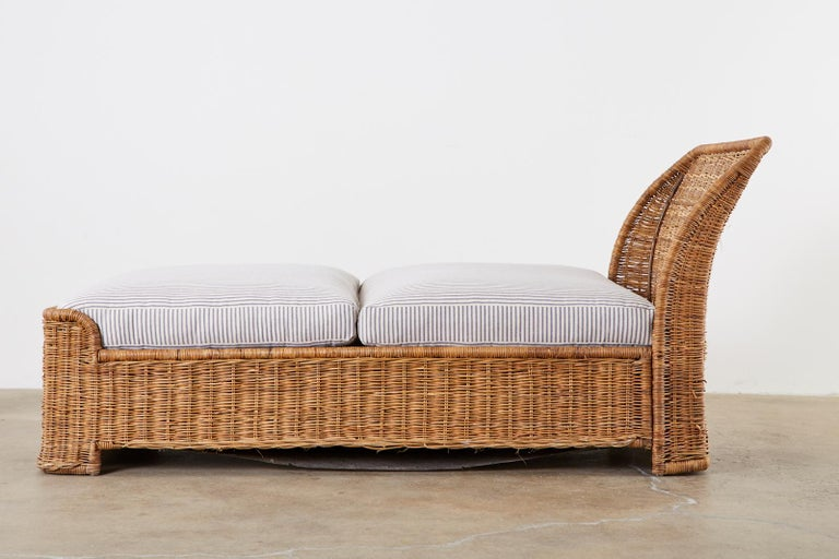 Organic Modern Style Wicker Daybed or Chaise Lounge 5