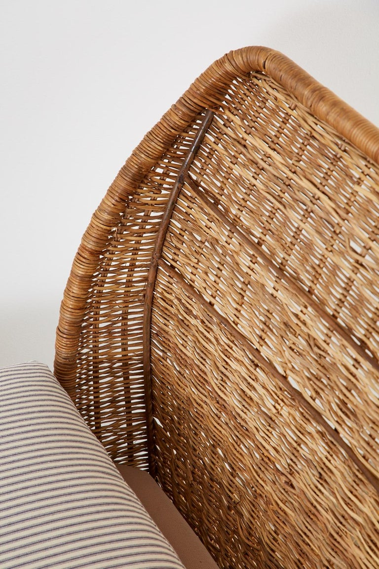 Organic Modern Style Wicker Daybed or Chaise Lounge 7
