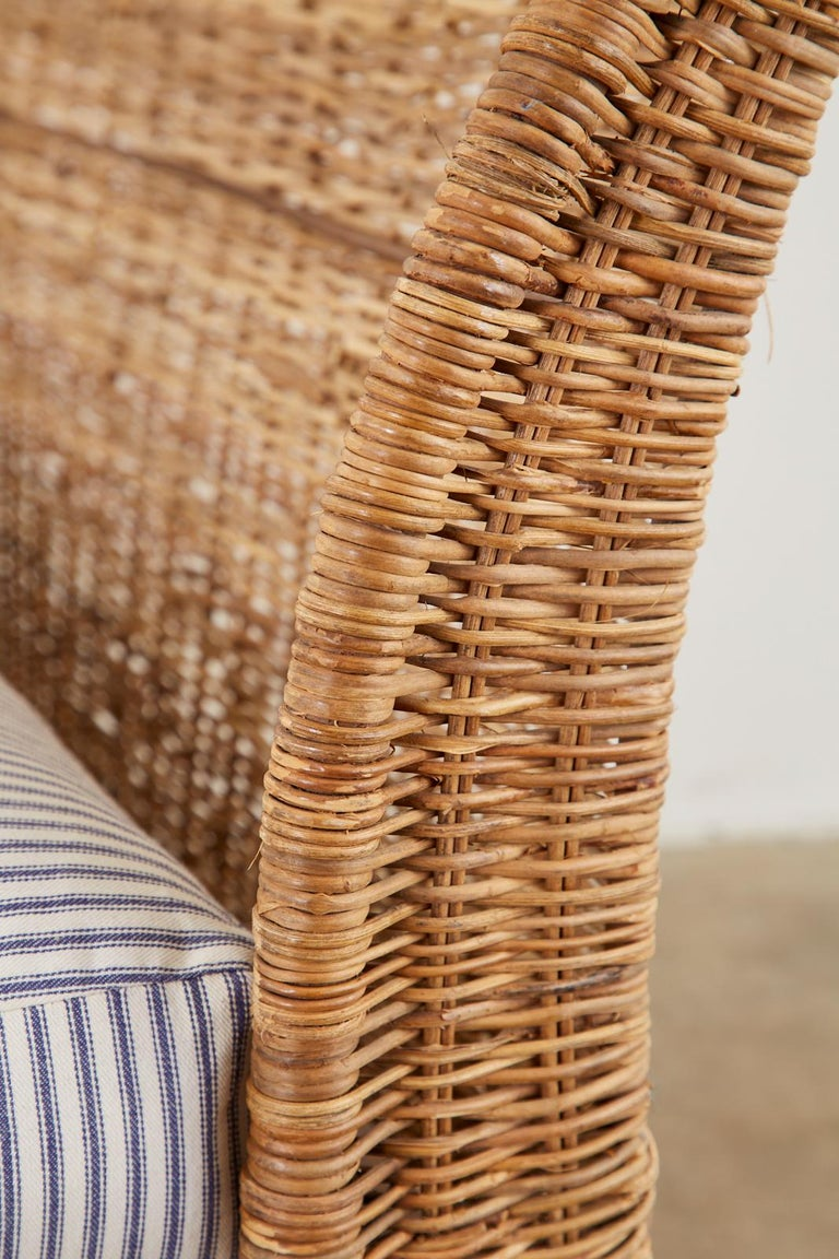 Organic Modern Style Wicker Daybed or Chaise Lounge 14