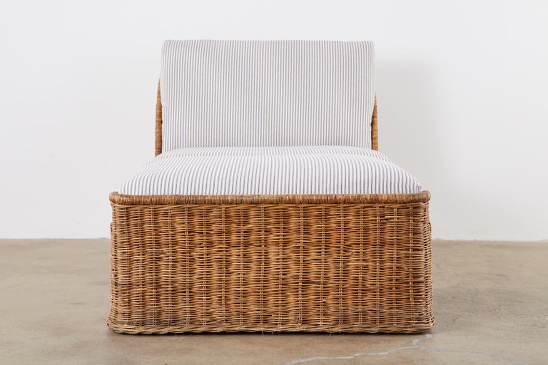 American Organic Modern Style Wicker Daybed or Chaise Lounge