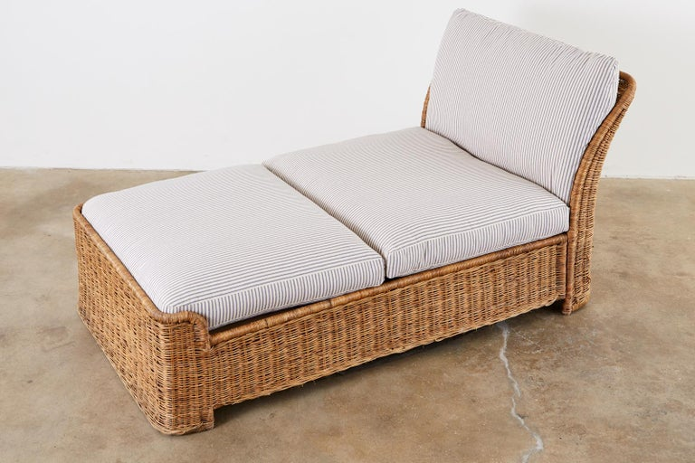 Organic Modern Style Wicker Daybed or Chaise Lounge 1