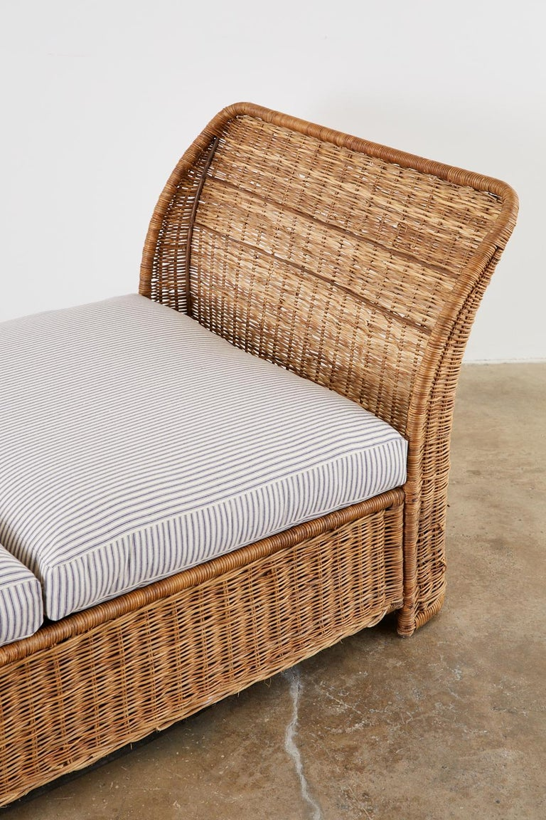 Organic Modern Style Wicker Daybed or Chaise Lounge 2
