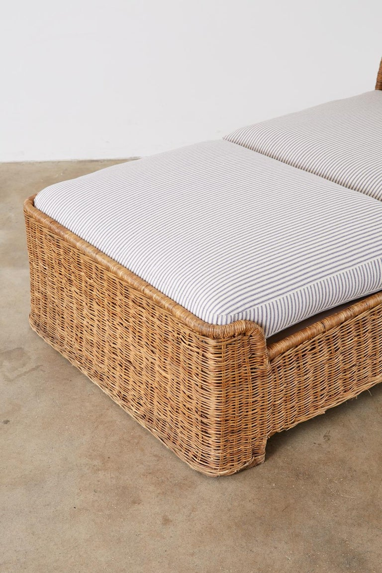 Organic Modern Style Wicker Daybed or Chaise Lounge 3
