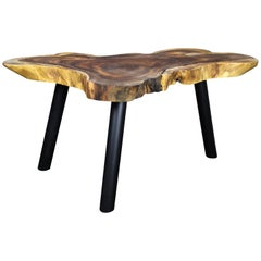Organic Modern Suar Wood Dining Table or Side Table, 2020