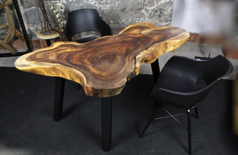 Organic Modern Suar Wood Dining Table or Side Table, 2020 For Sale 4