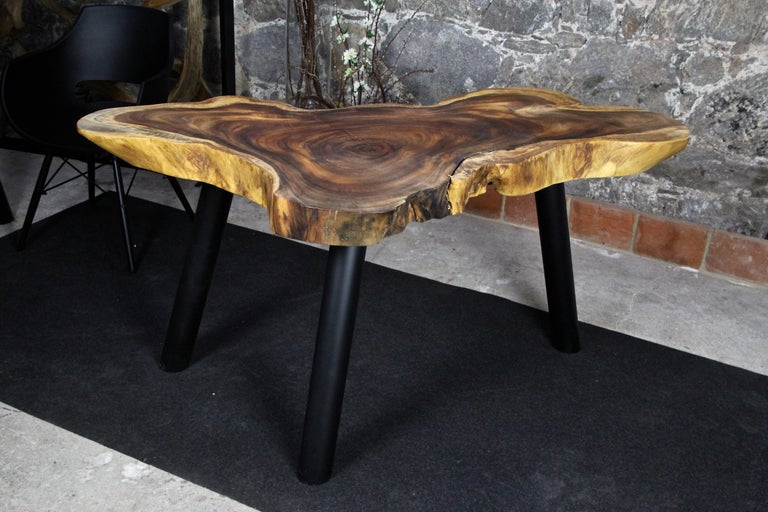 Indonesian Organic Modern Suar Wood Dining Table or Side Table, 2020 For Sale
