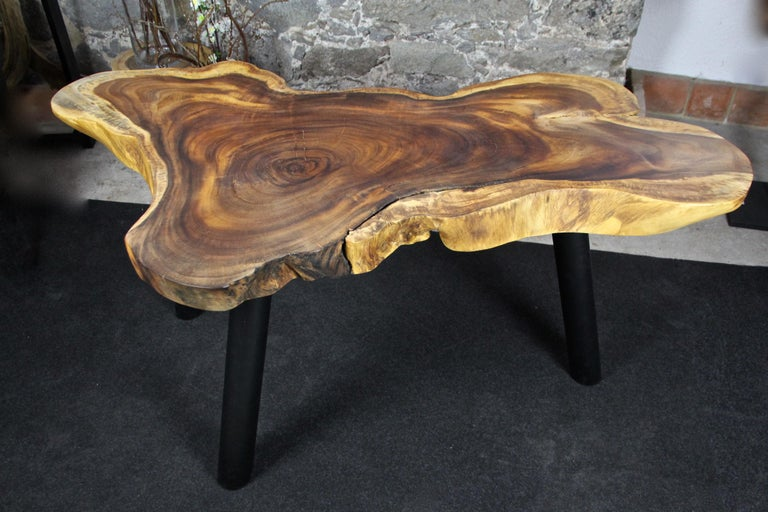 Organic Modern Suar Wood Dining Table or Side Table, 2020 For Sale 2