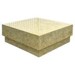 Organic Modern Tessellated Bone Coffee Table