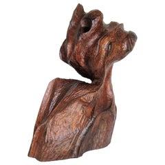 Organic Modern Walnut Sculpture