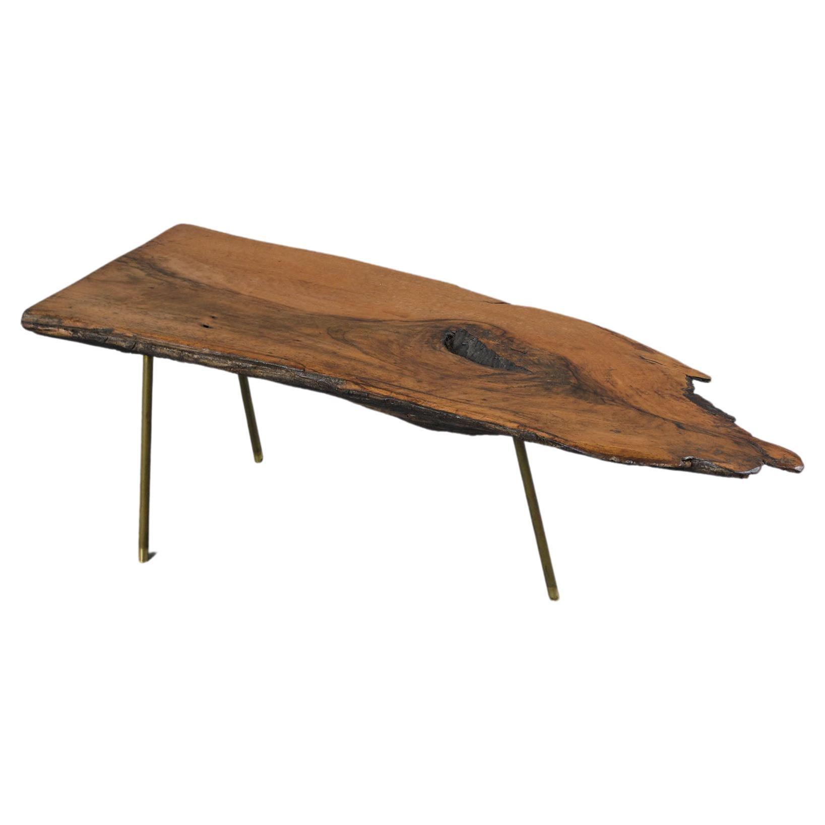 Organic Modern Wood Slab Coffee Table