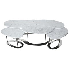 Organic Nested Marble Cocktail Table