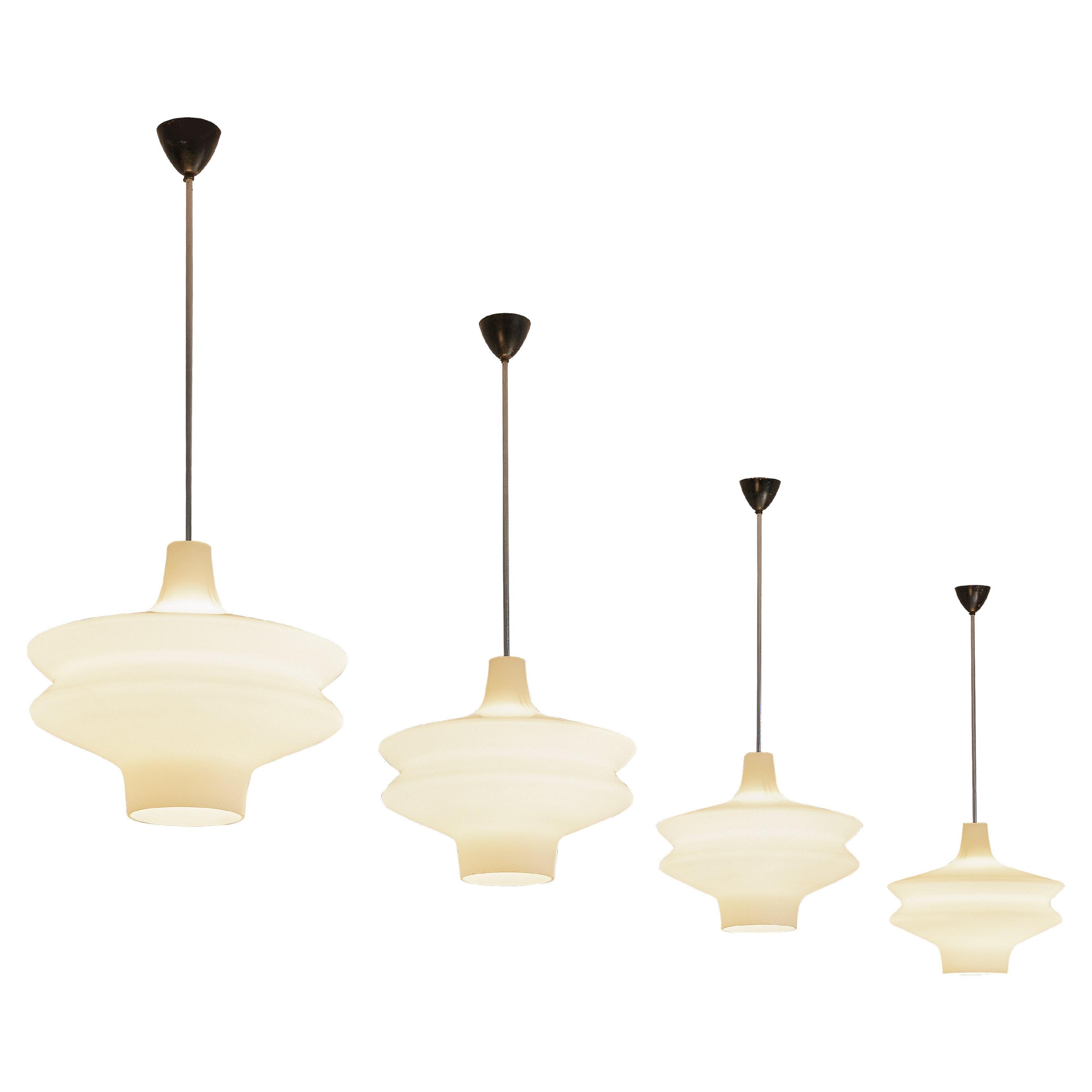 Organic Pendants in Opaline Glass