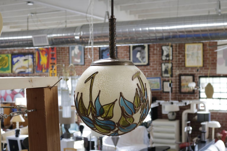 Mid-Century Modern Organic Resin Pendant Lamp For Sale