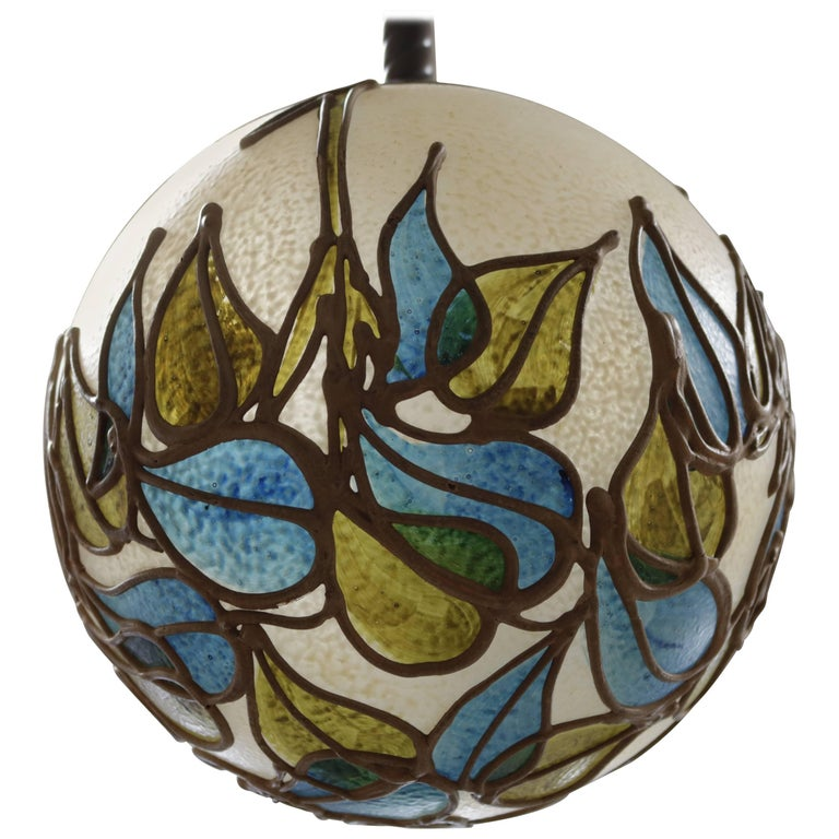 Organic Resin Pendant Lamp For Sale