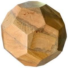 Organic Sculpted Handcut Wooden Sphere