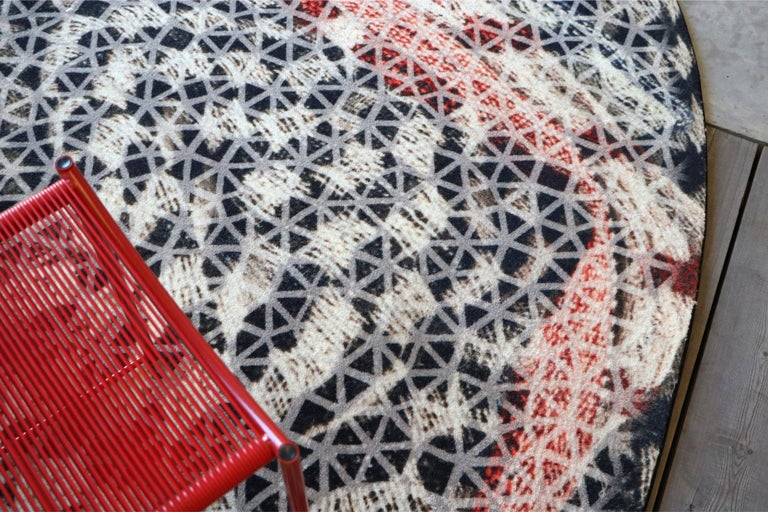 Modern Organic Shape Squared Rug High Performance Fibers by Deanna Comellini 190x200 cm For Sale