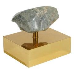 Organic Shaped Brass Sculpture by Kappel