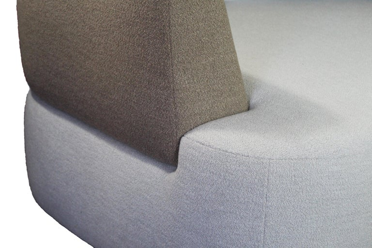 Organic Sofa Pierre in Cream and Brown Wool In New Condition For Sale In MONTROZIER, FR