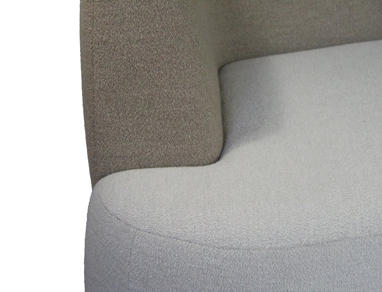 Contemporary Organic Sofa Pierre in Cream and Brown Wool For Sale