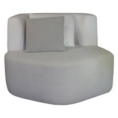 Organic Sofa Pierre in White and Cream Wool by Eric Gizard