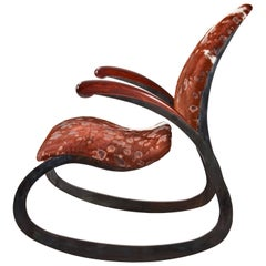 Organic Steel Rocking Chair with Upholstery Customizable