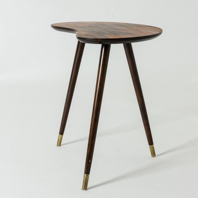 Organic Swedish Midcentury Coffee/Occasional Table with Inlaid Wood In Good Condition For Sale In Stockholm, SE