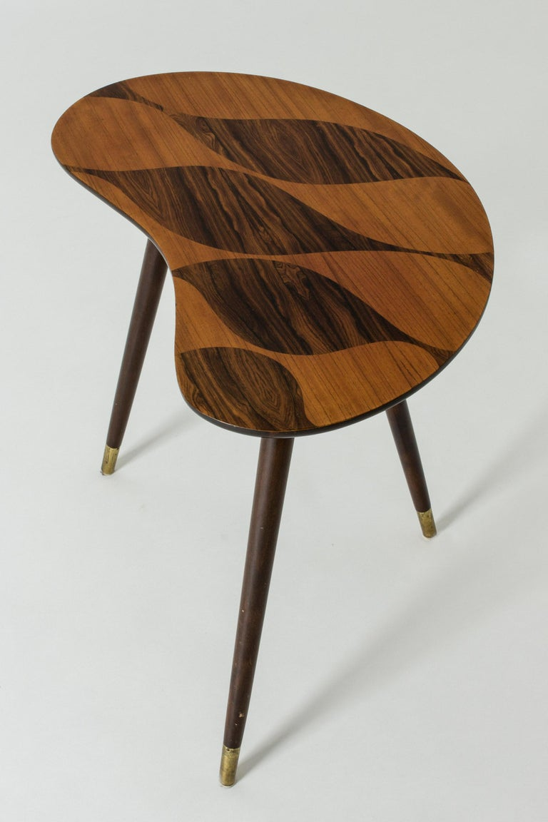 Mid-20th Century Organic Swedish Midcentury Coffee/Occasional Table with Inlaid Wood For Sale