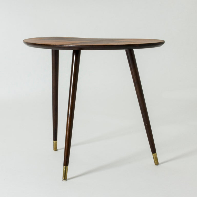 Organic Swedish Midcentury Coffee/Occasional Table with Inlaid Wood For Sale 1