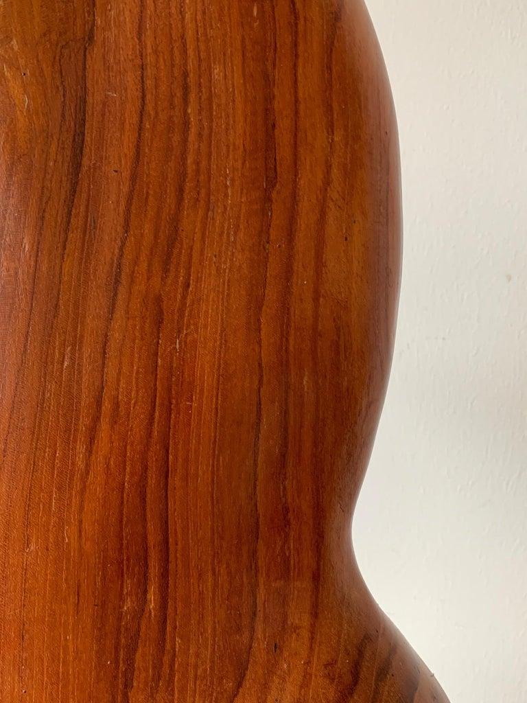 Organic Teak Wood Sculpture Signed Appu For Sale 1
