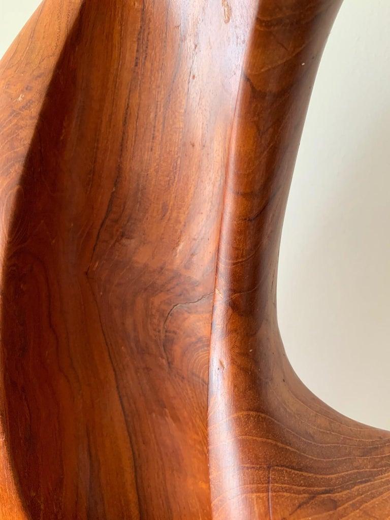Organic Teak Wood Sculpture Signed Appu For Sale 3