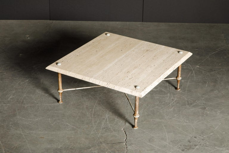 Organic Travertine Coffee Table by Stone International Italy, 1970s, Signed For Sale 5