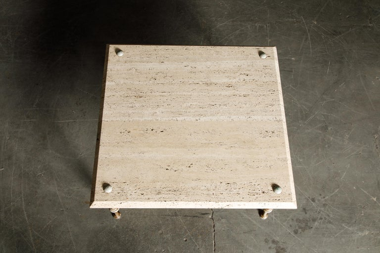 Organic Travertine Coffee Table by Stone International Italy, 1970s, Signed For Sale 7