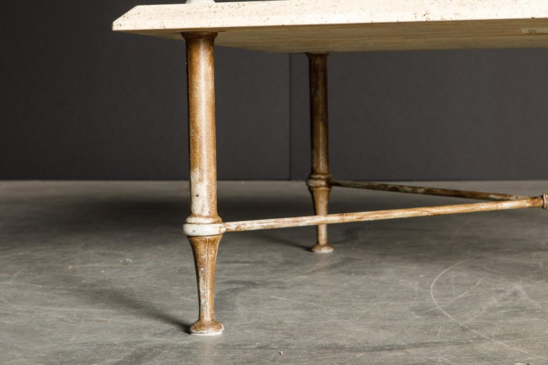 Organic Travertine Coffee Table by Stone International Italy, 1970s, Signed For Sale 8
