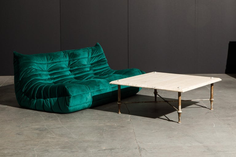 Organic Travertine Coffee Table by Stone International Italy, 1970s, Signed For Sale 10