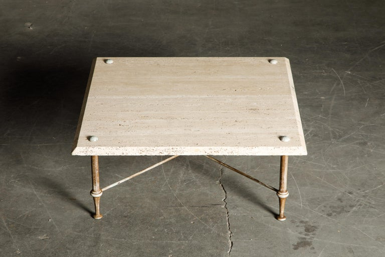 Organic Travertine Coffee Table by Stone International Italy, 1970s, Signed In Good Condition For Sale In Los Angeles, CA
