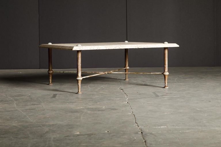 Late 20th Century Organic Travertine Coffee Table by Stone International Italy, 1970s, Signed For Sale