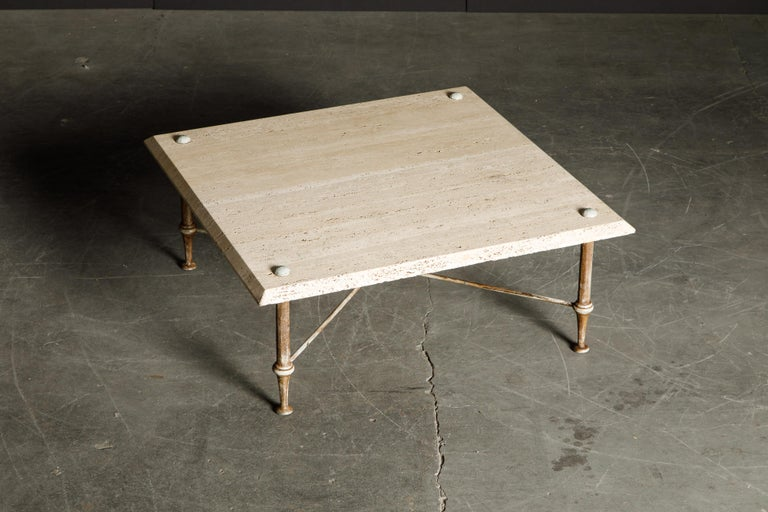 Organic Travertine Coffee Table by Stone International Italy, 1970s, Signed For Sale 2