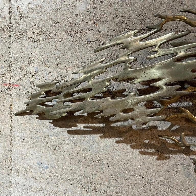 North American Metal Wall Art Sculptural Bronze Bonsai Tree Signed by Artist Bijan, 1980 For Sale
