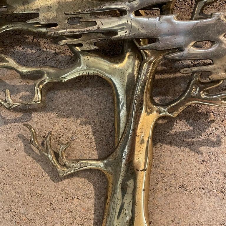 Metal Wall Art Sculptural Bronze Bonsai Tree Signed by Artist Bijan, 1980 For Sale 1