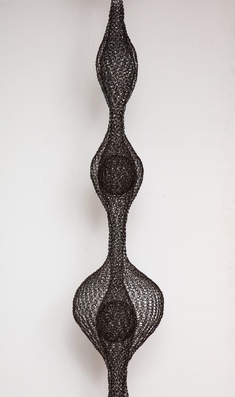 Hand-Woven Organic Woven Mesh Wire Sculpture by Ulrikk Dufosse, France, 2016 For Sale