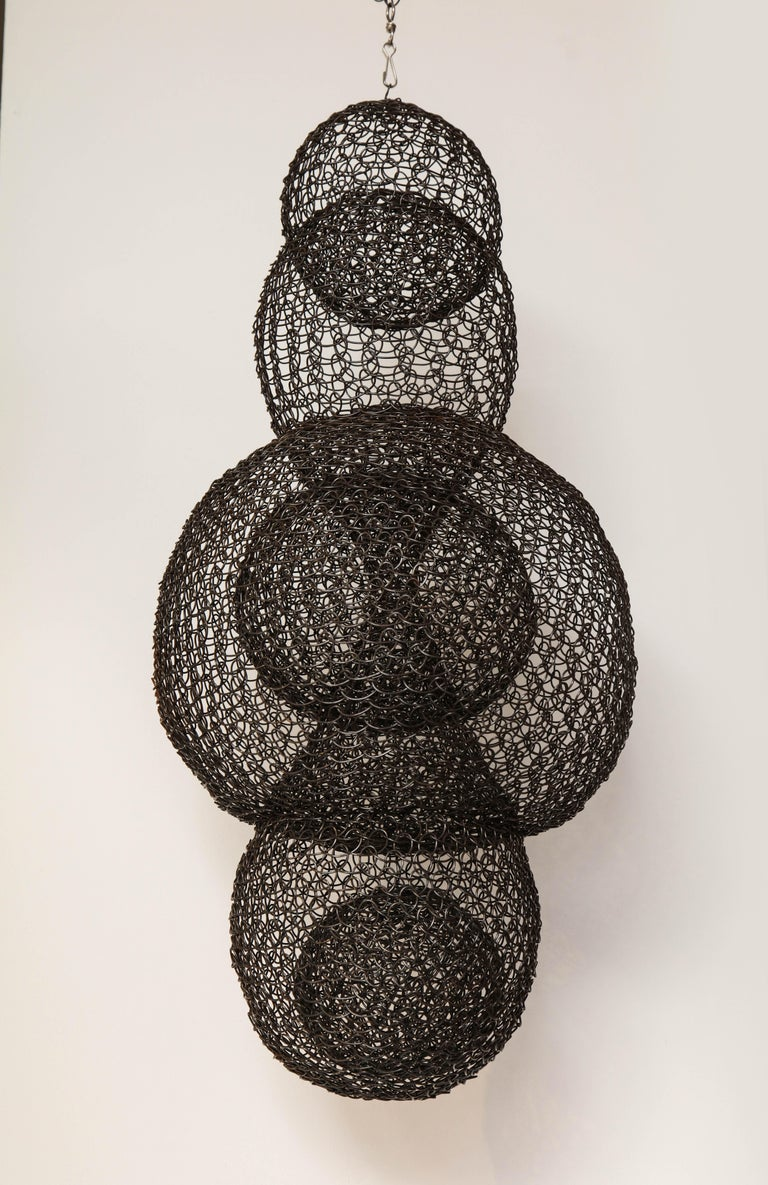 French Organic Woven Mesh Wire Sculpture by Ulrikk Dufosse, France, 2017 For Sale