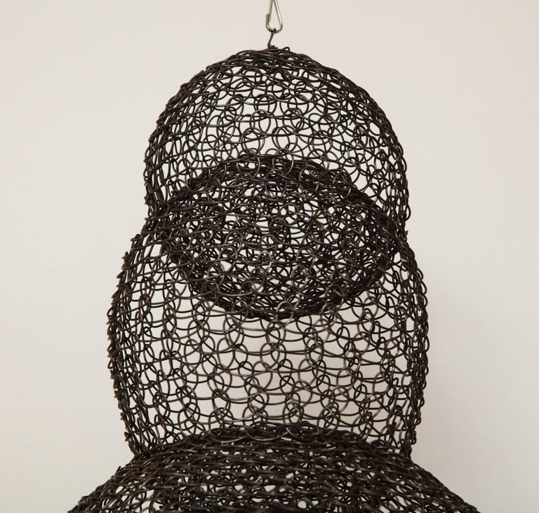 Hand-Woven Organic Woven Mesh Wire Sculpture by Ulrikk Dufosse, France, 2017 For Sale