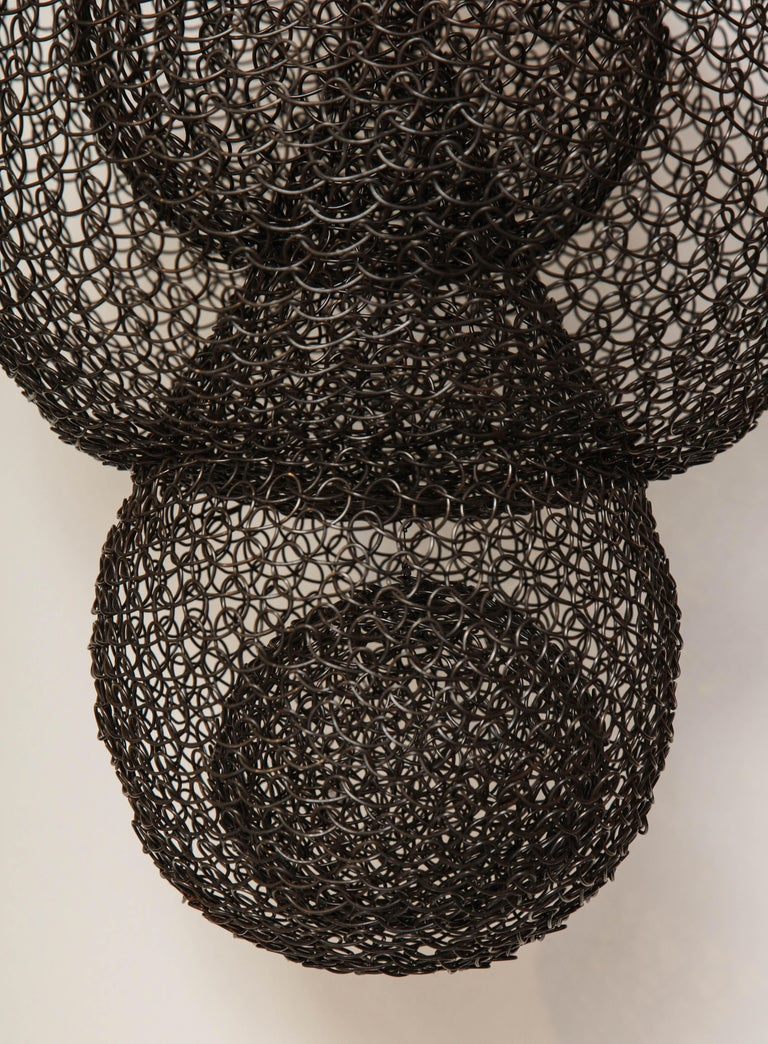 Contemporary Organic Woven Mesh Wire Sculpture by Ulrikk Dufosse, France, 2017 For Sale