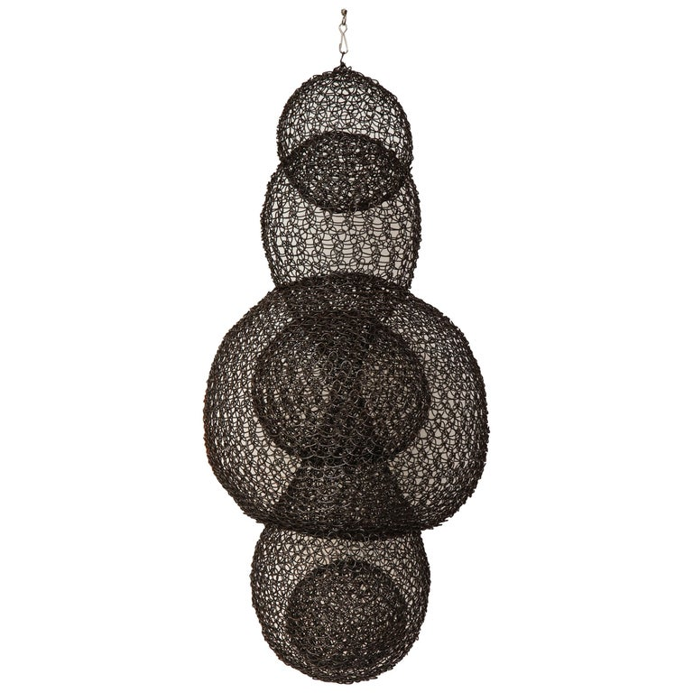 Organic Woven Mesh Wire Sculpture by Ulrikk Dufosse, France, 2017 For Sale