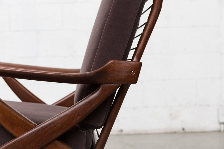 Organically Carved High Back Teak Lounge Chair For Sale 3