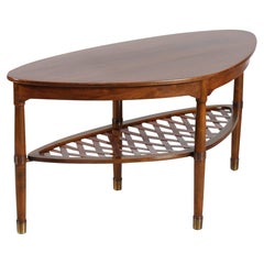 Organically Shaped Coffee Table of Walnut by Danish Master Cabinetmaker, 1920s