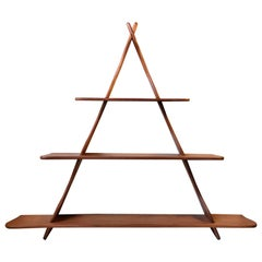 Organically Shaped Danish Teak Shelf from the School of Peder Moos